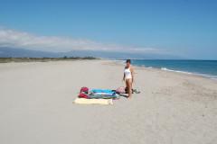 La plage de la Marana