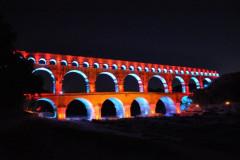 Les illuminations du pont du Gard