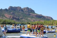 Parc de loisirs aquatique Water Glisse Passion Arena plage Lac Perrin