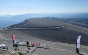 L'ascension du Mont Ventoux à vélo