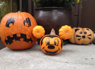 Halloween dans un parc d'attraction