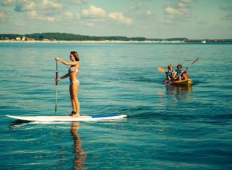Kayak de mer et paddle