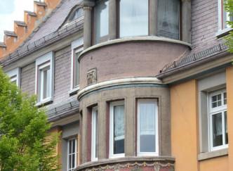 Façades Art Nouveau en centre-ville de Verdun
