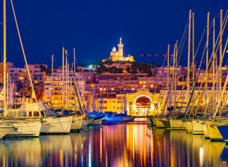 Les plus belles villes de France à la tombée de la nuit