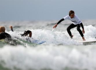Surf sur la presqu'île