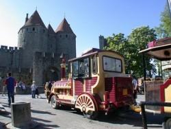 Le petit train de la Cité de Carcassonne