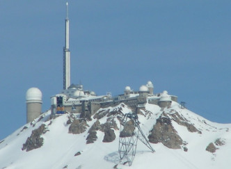 Vue sur les Pyrénées depuis l'Observatoire