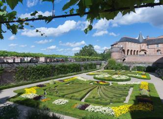 Les jardins à la française du Palais de la Berbie
