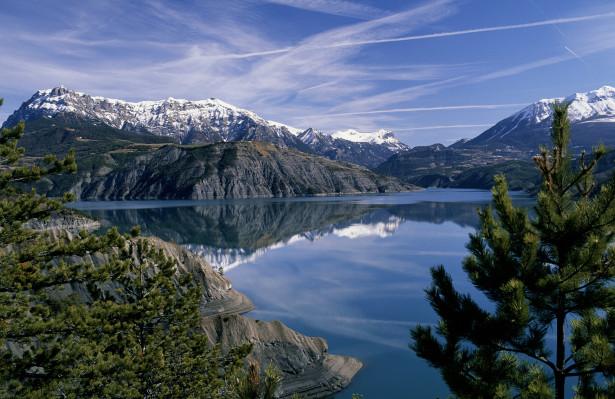 Embrun lac de serre poncon